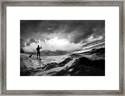 Storm Paddler Framed Print by Sean Davey