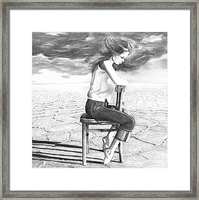 Storm Preparation Framed Print
