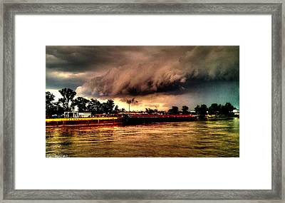 Storm Rolling In Framed Print by Cory Shoemaker