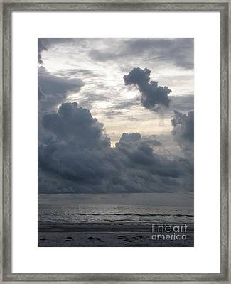 Storm Rolling In Framed Print by Gayle Melges
