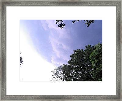 Storm Rolling In Framed Print