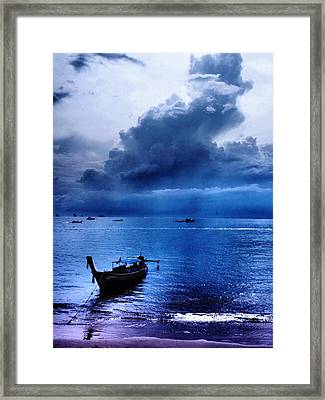 Storm Rolls Over The Sea Framed Print by Kaleidoscopik Photography