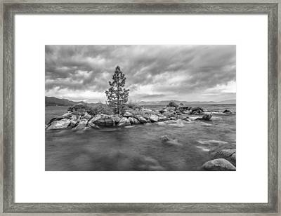 Storm Runs Through Framed Print by Jon Glaser
