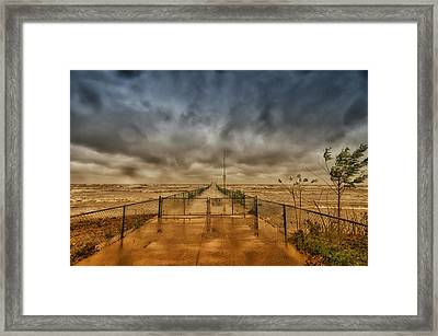 Storm Sandy At Bradstreet Landing Framed Print