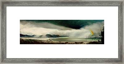 Framed Print featuring the painting Storm by Sorin Apostolescu