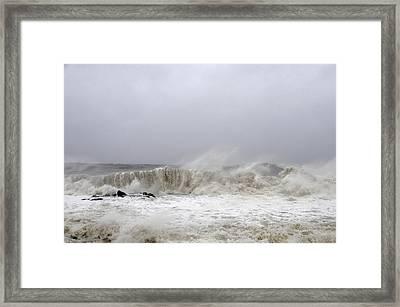 Storm Surge Framed Print by JoAnn Lense