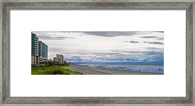 Framed Print featuring the photograph Storm Tail by Steven Santamour