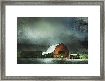 Storm Framed Print by Theresa Tahara