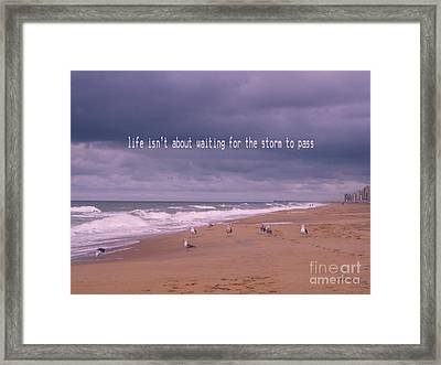 Storm To Come Framed Print