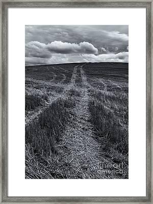 Storm Tracks Framed Print by Mike  Dawson