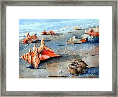 Storm Treasures Framed Print