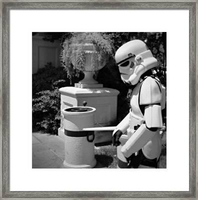 Storm Trooper Framed Print