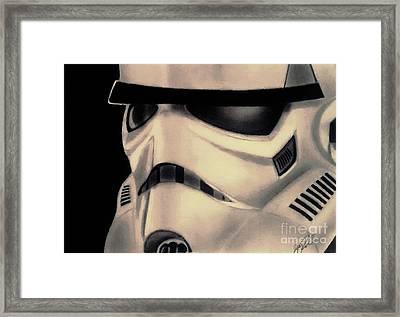 Storm Trooper Helmet Framed Print by Jesse Steel
