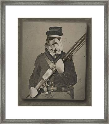 Storm Trooper Star Wars Antique Photo Framed Print by Tony Rubino
