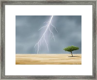 Storm Framed Print by Veronica Minozzi