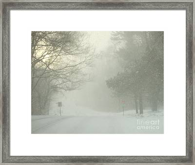 Storm Warning  Framed Print by Deborah DeLaBarre