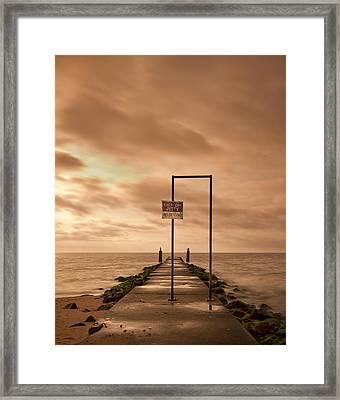 Storm Warning Framed Print by Evelina Kremsdorf