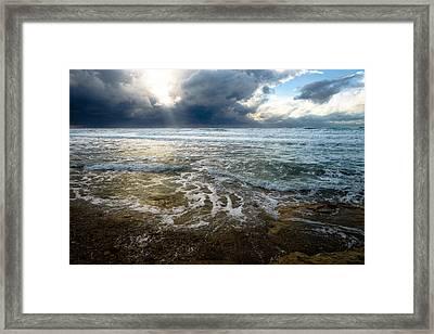 Storm Warning Framed Print