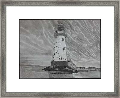 Storm Watch Framed Print by Tony Clark