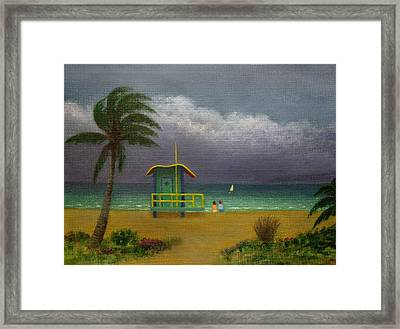 Storm Watchers Framed Print by Gordon Beck