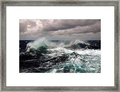 Storm Wave Framed Print by Boon Mee