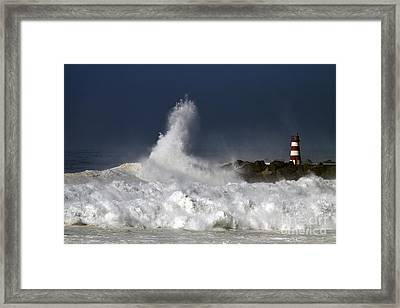 Storm Waves Framed Print by Boon Mee
