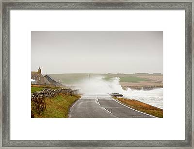 Storm Waves On Framed Print by Ashley Cooper
