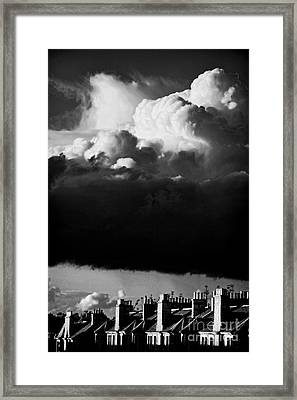 Framed Print featuring the photograph Stormclouds Approaching by Craig B