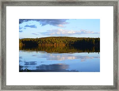 Stormclouds Scatter Framed Print by David Porteus