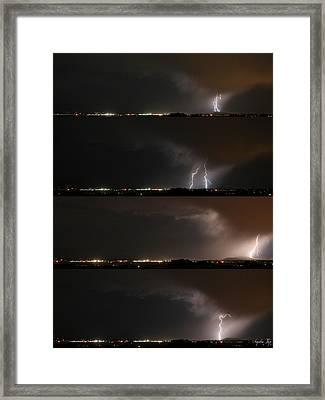 Stormed Framed Print by Augustina Trejo