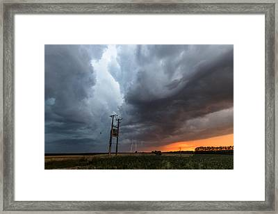 Stormfront At Sunset Framed Print by Ian Hufton