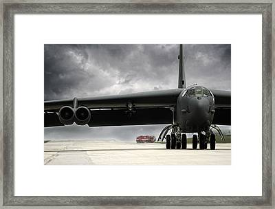 Stormfront B-52 Framed Print by Peter Chilelli