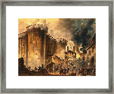 Storming Of The Bastille Framed Print by Jean-Pierre Houel