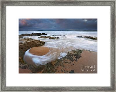 Stormrise Whirlpool Framed Print by Mike Dawson