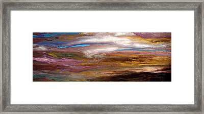 Storms At Sunset / Original Skyscape Painting Framed Print