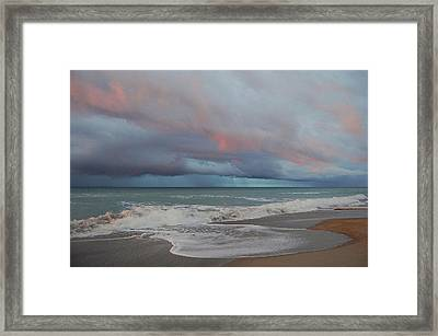 Storms Comin' Framed Print by Mim White