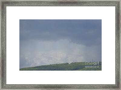 Framed Print featuring the photograph Storm's Coming  by Christina Verdgeline