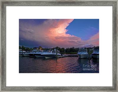 Storms Edge Framed Print by Amazing Jules