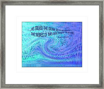Storms Of Life Framed Print by Bonnie Bruno