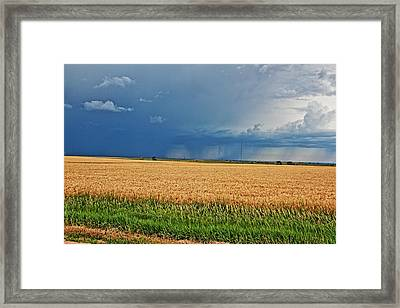 Storms On The Plains Framed Print