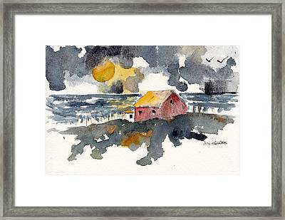 Framed Print featuring the painting Storm's Over by Anne Duke
