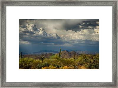 Storms Over The Sonoran Desert  Framed Print