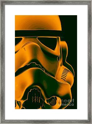 Stormtrooper Helmet 10 Framed Print by Micah May