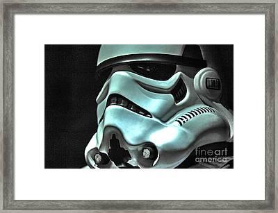 Stormtrooper Helmet 11 Framed Print
