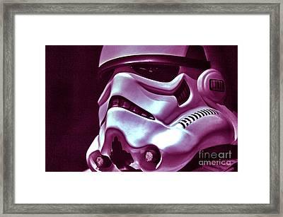 Stormtrooper Helmet 20 Framed Print by Micah May