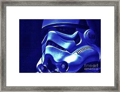 Stormtrooper Helmet 21 Framed Print