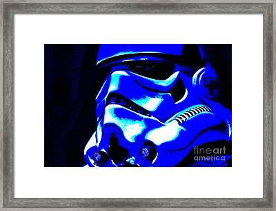 Stormtrooper Helmet 22 Framed Print by Micah May