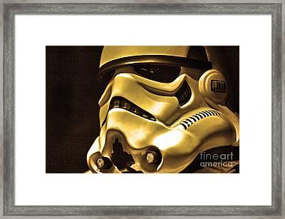 Stormtrooper Helmet 24 Framed Print