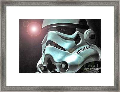 Stormtrooper Helmet 27 Framed Print