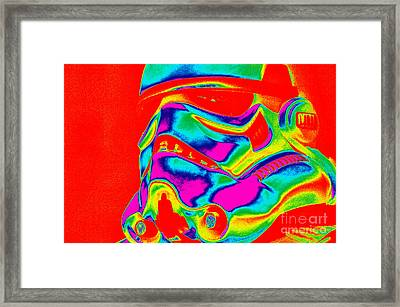 Stormtrooper Helmet 28 Framed Print by Micah May